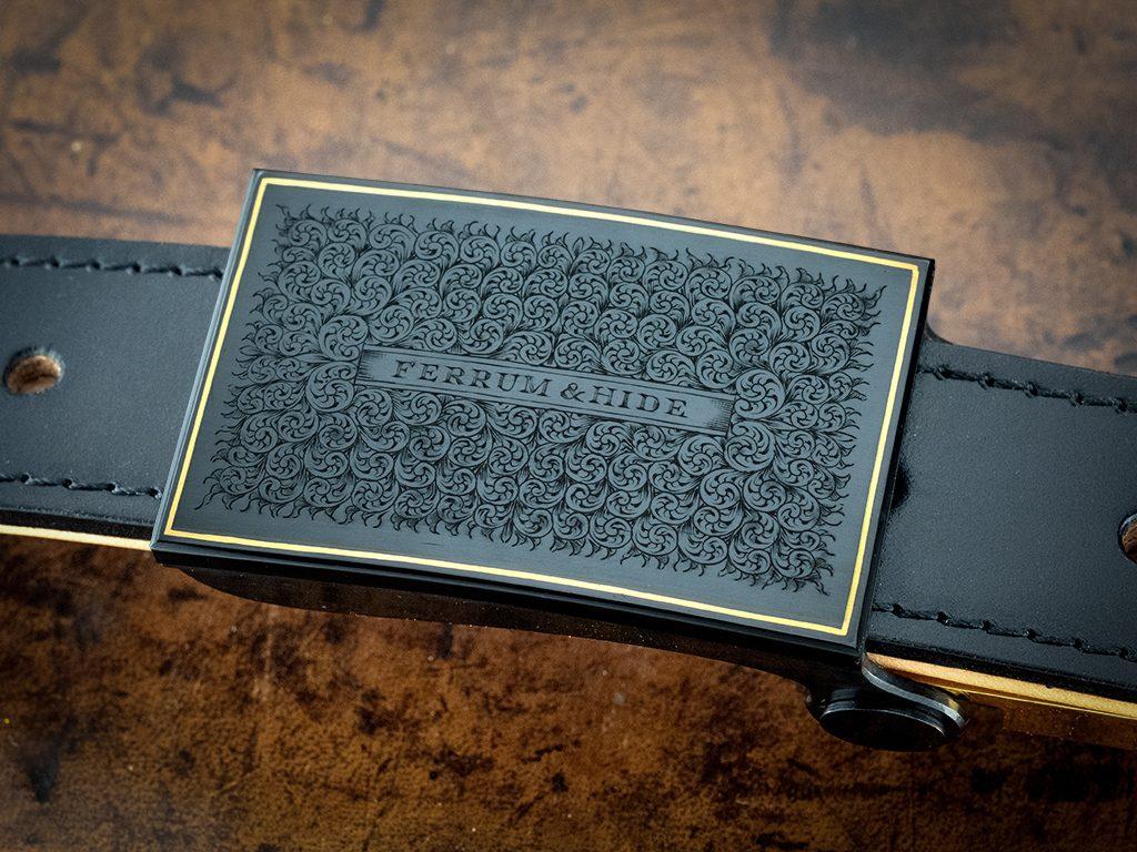 luxury bespoke custom engraved belt buckle standard fine engraving